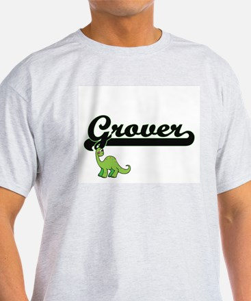 Grover Classic Name Design with Dinosaur T-Shirt