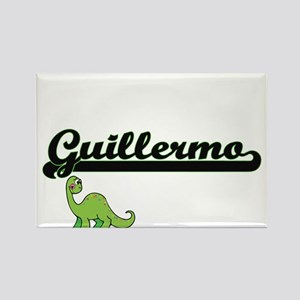 Guillermo Classic Name Design with Dinosau Magnets
