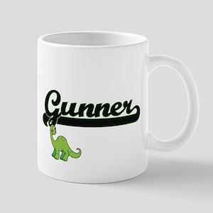 Gunner Classic Name Design with Dinosaur Mugs