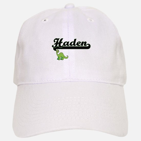 Haden Classic Name Design with Dinosaur Baseball Baseball Cap