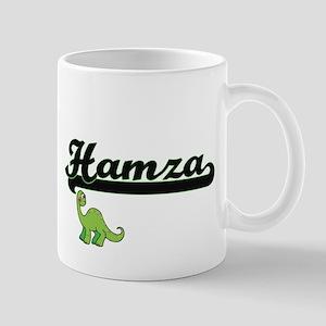 Hamza Classic Name Design with Dinosaur Mugs