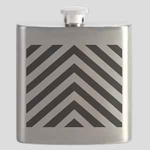 Black & White Chevron Flask