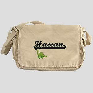Hassan Classic Name Design with Dino Messenger Bag
