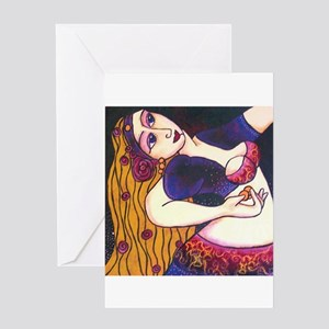 Back Bend Belly Dancer Greeting Card