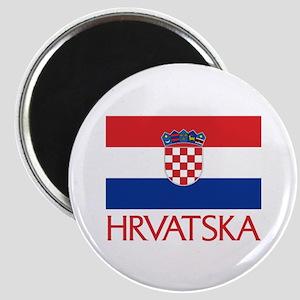 Hrvatska Flag Magnet