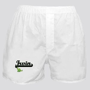 Irvin Classic Name Design with Dinosa Boxer Shorts