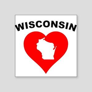 Wisconsin Heart Cutout Sticker