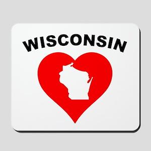 Wisconsin Heart Cutout Mousepad