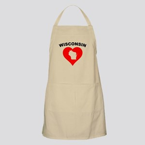 Wisconsin Heart Cutout Apron