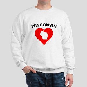 Wisconsin Heart Cutout Sweatshirt