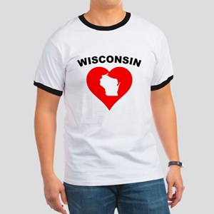 Wisconsin Heart Cutout T-Shirt