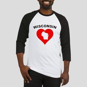 Wisconsin Heart Cutout Baseball Jersey