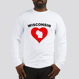 Wisconsin Heart Cutout Long Sleeve T-Shirt