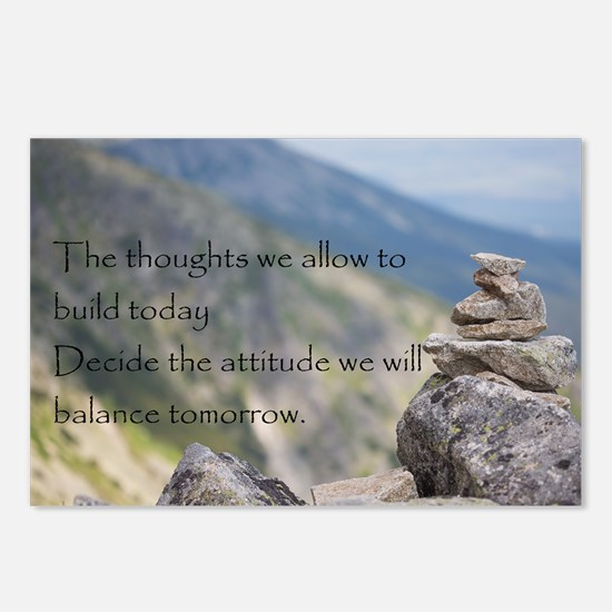 Cute Motivational stones Postcards (Package of 8)