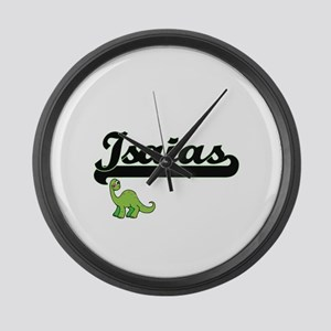 Isaias Classic Name Design with D Large Wall Clock