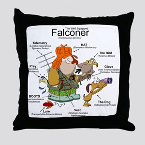 The Falconer Throw Pillow