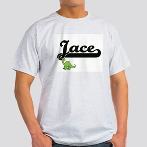 Jace Classic Name Design with Dinosaur T-Shirt