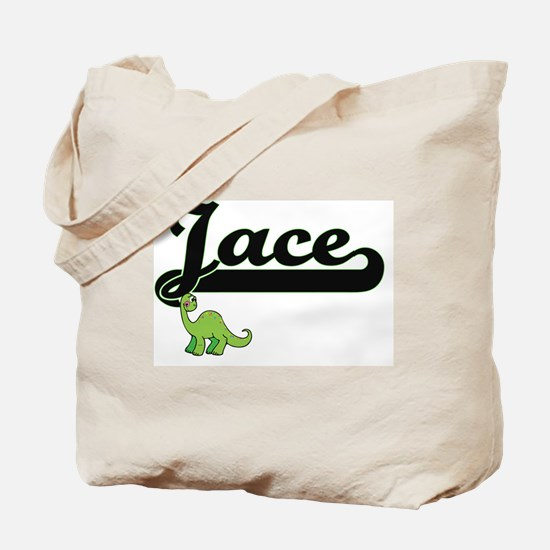 Jace Classic Name Design with Dinosaur Tote Bag