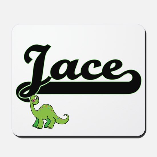 Jace Classic Name Design with Dinosaur Mousepad