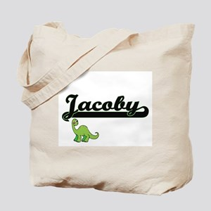 Jacoby Classic Name Design with Dinosaur Tote Bag