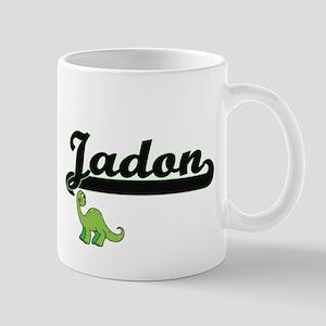 Jadon Classic Name Design with Dinosaur Mugs