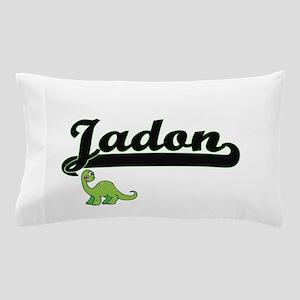 Jadon Classic Name Design with Dinosau Pillow Case