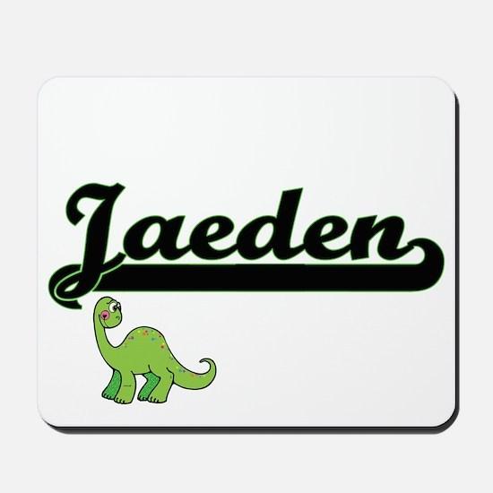 Jaeden Classic Name Design with Dinosaur Mousepad