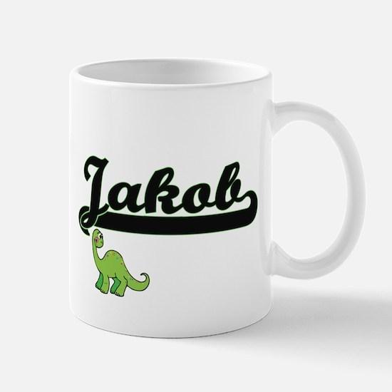 Jakob Classic Name Design with Dinosaur Mugs