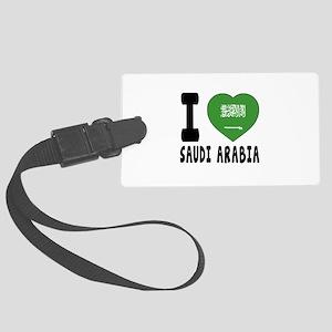 I Love Saudi Arabia Large Luggage Tag