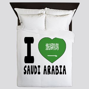 I Love Saudi Arabia Queen Duvet