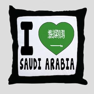 I Love Saudi Arabia Throw Pillow