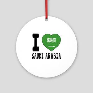 I Love Saudi Arabia Round Ornament