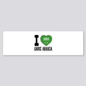 I Love Saudi Arabia Sticker (Bumper)