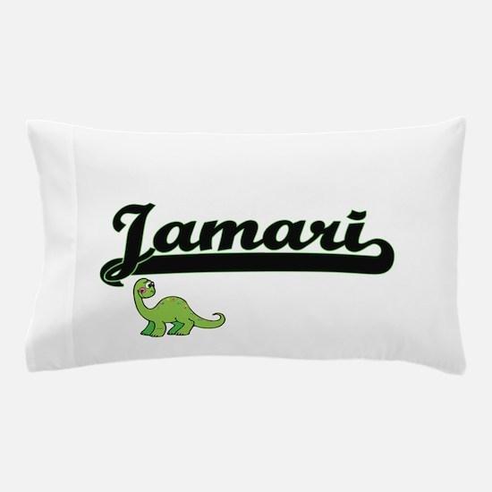 Jamari Classic Name Design with Dinosa Pillow Case