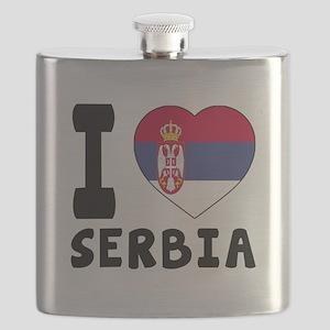 I Love Serbia Flask