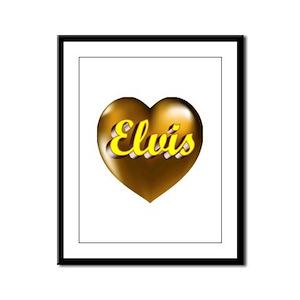 Heart of Gold Elvis Framed Panel Print