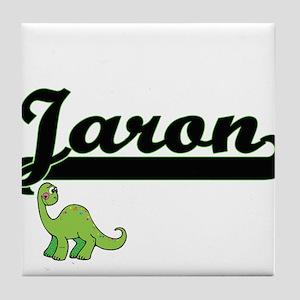 Jaron Classic Name Design with Dinosa Tile Coaster