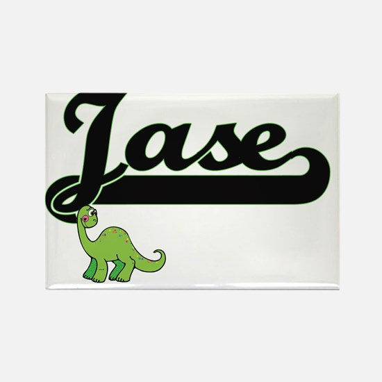 Jase Classic Name Design with Dinosaur Magnets