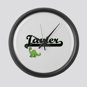 Javier Classic Name Design with D Large Wall Clock