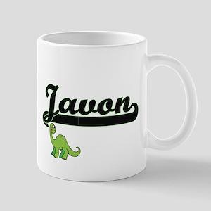 Javon Classic Name Design with Dinosaur Mugs