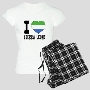 I Love Sierra Leone Women's Light Pajamas