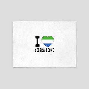 I Love Sierra Leone 5'x7'Area Rug