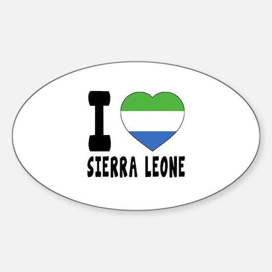 I Love Sierra Leone Sticker (Oval)