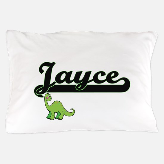 Jayce Classic Name Design with Dinosau Pillow Case