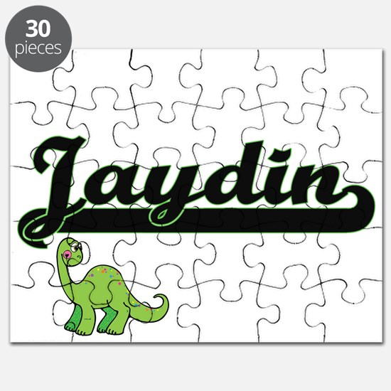 Jaydin Classic Name Design with Dinosaur Puzzle