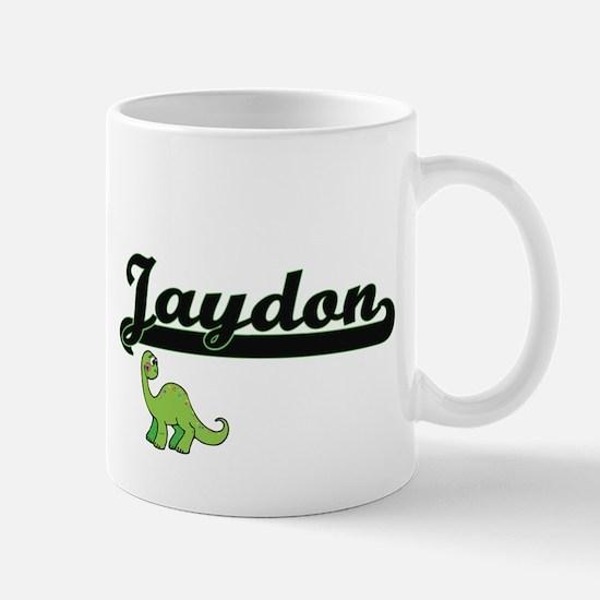 Jaydon Classic Name Design with Dinosaur Mugs