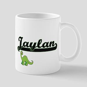 Jaylan Classic Name Design with Dinosaur Mugs
