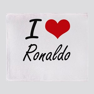 I Love Ronaldo Throw Blanket