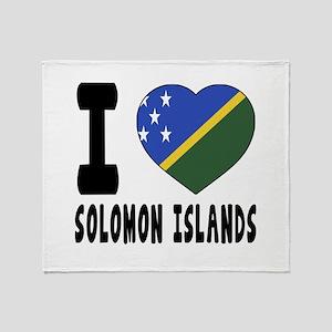 I Love Solomon Islands Throw Blanket