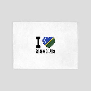 I Love Solomon Islands 5'x7'Area Rug